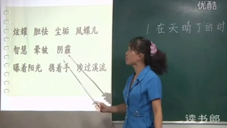 《在天晴了的时候》部编版四年级语文下册公开课视频