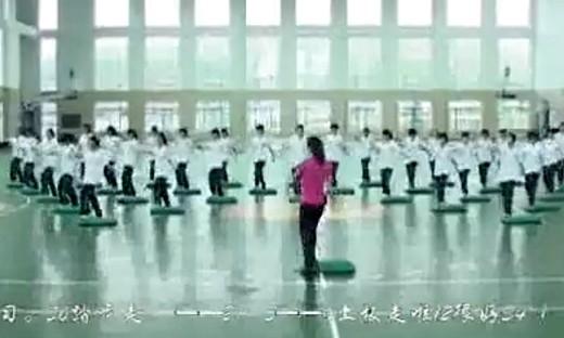 第五届全国高中体育教学观摩课《踏板操》(一)...