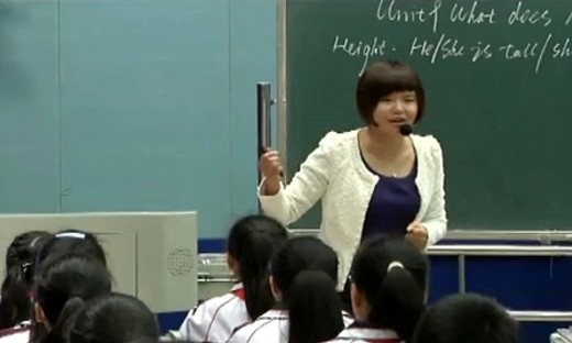 人教版英语七年级下册《What dose he look like》教学视频-蒋世燕