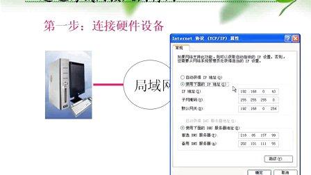 高一信息技术微课视频 ip地址的设置