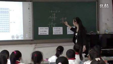 小学数学《两位数乘两位数的笔算乘法(不进位)》教学视频,2014年优质课