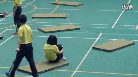 小学五年级体育《技巧肩肘倒立》教学视频,2014年优质课