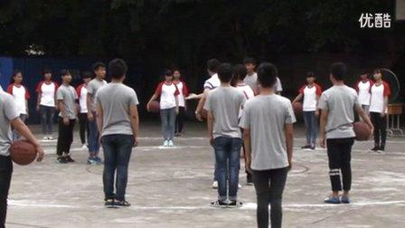 高中体育《原地双手胸前传接球》重庆市,2014学年度部级优课评选入围优质课教学视频