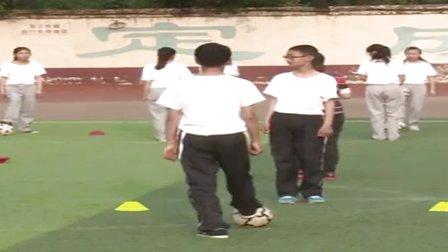 七年级体育《足球脚内侧传接球》教学视频,河南省,2015年部级优课评选入围视频