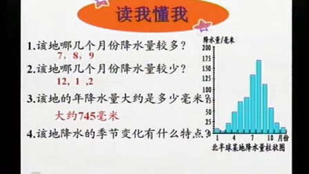 初中地理人教版七年�第三�《降水的�化�c分布》天津 �桂莉