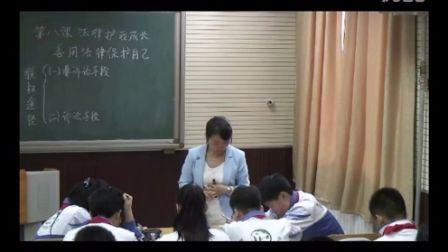 人教版初中思想品德七下《善用法律保护自己》天津迟伟萍