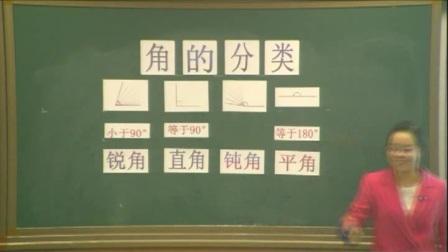人教版小学数学四上《角的分类》