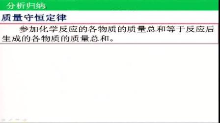 《质量守恒定律》人教版初三化学-郑州枫杨外国语学校:李丽单