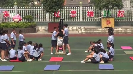 小学体育人教版五六年级《3.脚蹬墙手倒立》湖北彭昌进