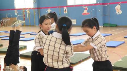 《肩肘倒立》优质课(科学版五年级体育,李美念)