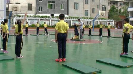《肩肘倒立》优质课(科学版五年级体育,王国华)