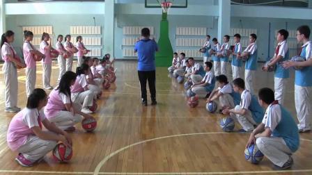 《双手胸前传接球》优质课(人教版初一体育与健康,高树涛)