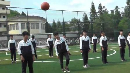 《双手头上前掷实心球》优质课(初一体育与健康,王小琴)