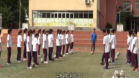 《足球基本技术》人教版初一体育与健康,谭克