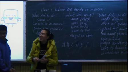 人教版英语八上Unit1SectionA(1a--2c)课堂教学视频实录-吴静