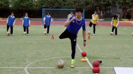 《足球-脚内侧踢球》人教版初一体育与健康,梁建华