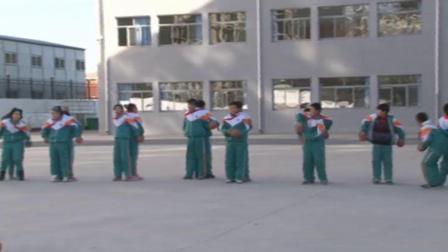 《水平三:双手由头后向前抛实心球》科学版体育六年级,陈金艳