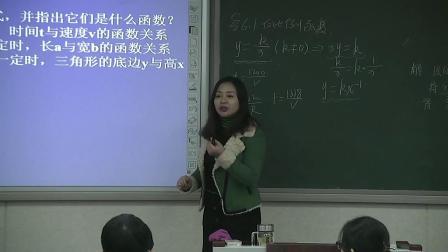 北师大版数学九上6.1《反比例函数》课堂视频实录-杜新艳