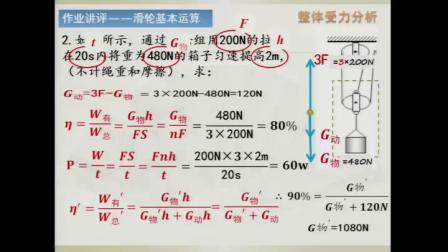 人教2011课标版物理 八下-12.2《滑轮》教学视频实录-赵雪