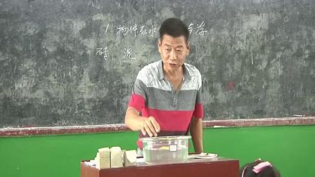 五年级下册科学视频课堂实录 1.1物体在水中是沉还是浮 教科版(沈建军)