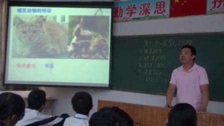 人教2011课标版生物 八上 第五单元第一章第七节《哺乳动物》课堂教学视频-赖永龙